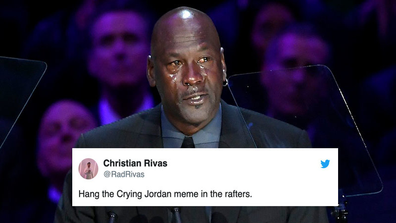 Adaptado operación A merced de  Michael Jordan Cried At Kobe Bryant's Memorial And Knows You're Going To  Meme It   Know Your Meme