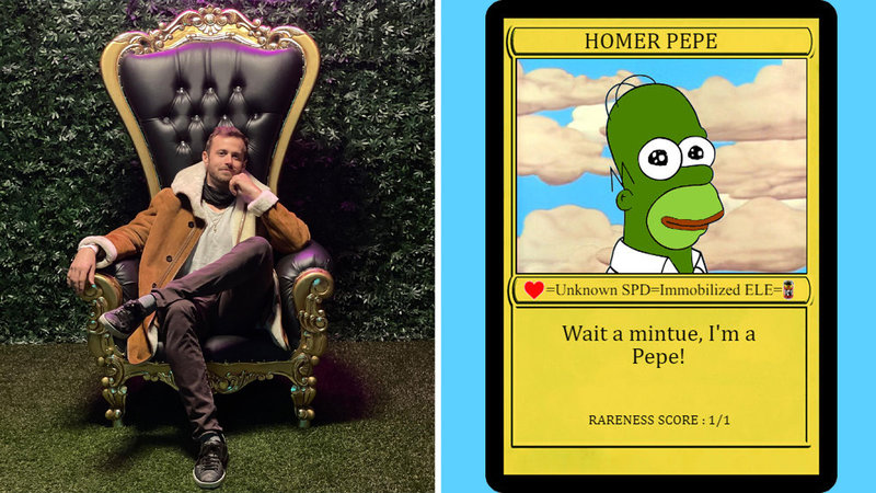 Peter Kell Recounts The Story Of Buying 'Homer Pepe,' The Most Valuable Rare Pepe Ever, And How He Sold It For Over $300,000 Three Years Later