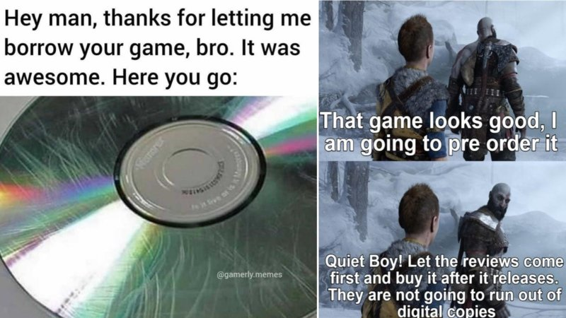 Two gaming memes in the following collection.