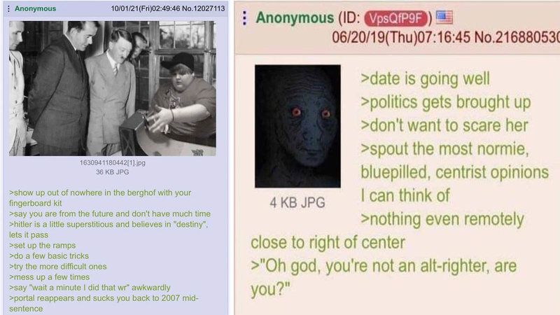 Two 4chan greentexts from the following collection.