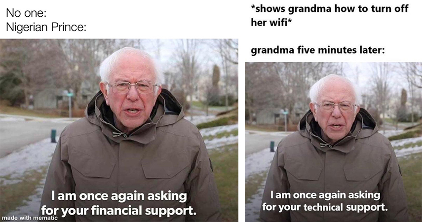 15 Of The Funniest Ways Bernie Sanders Is Asking For Your Support Know Your Meme