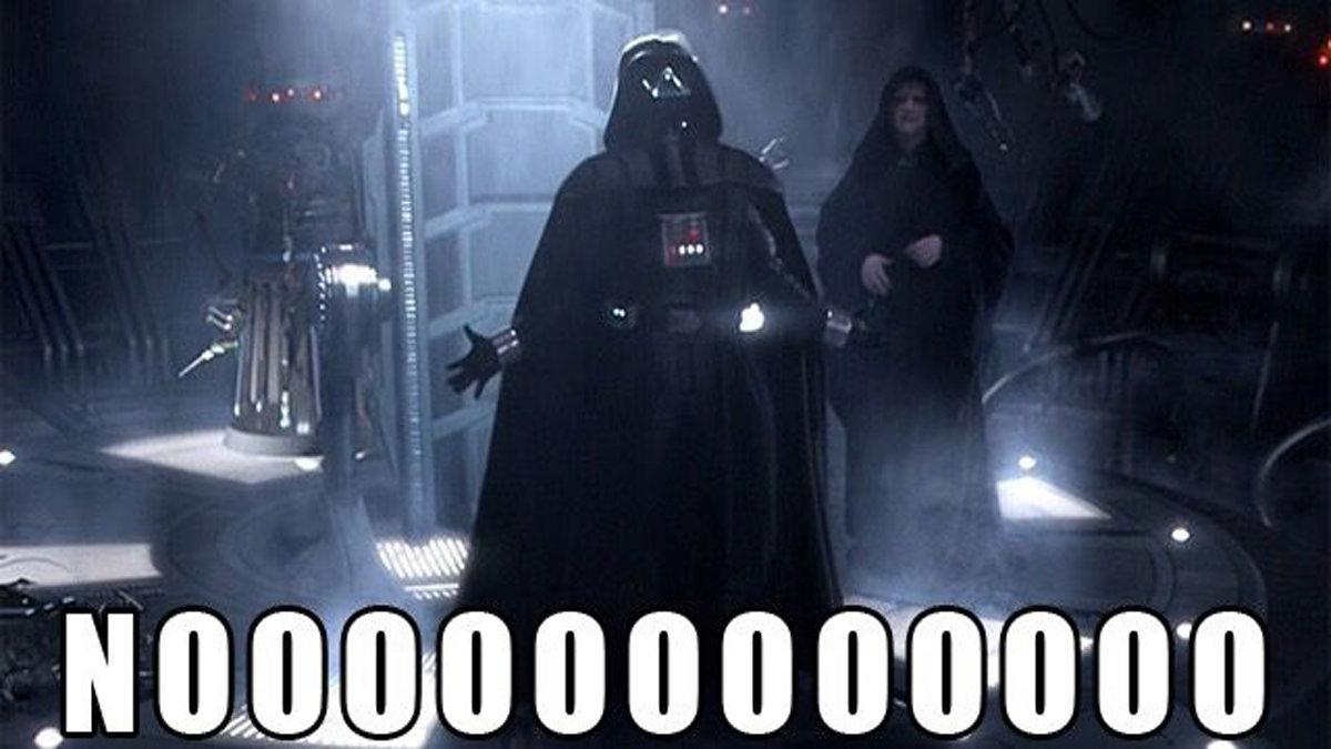 Darth Vader Saying Nooo
