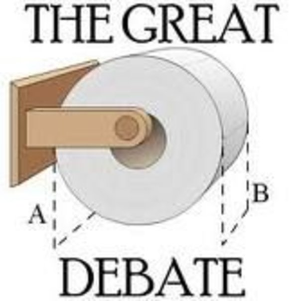 Toilet paper over or under poll