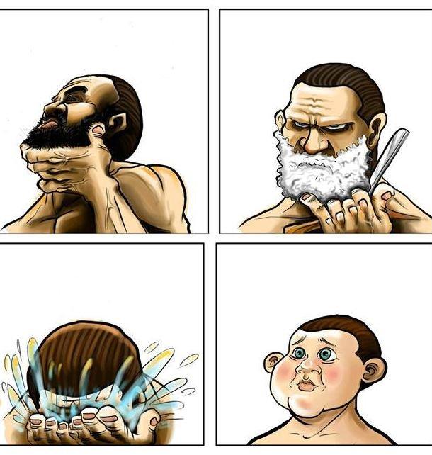 facial shaving Men