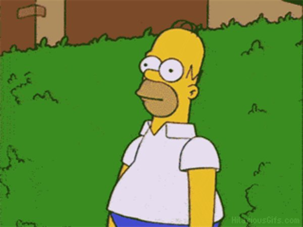 Homer Simpson Backs Into Bushes Know Your Meme