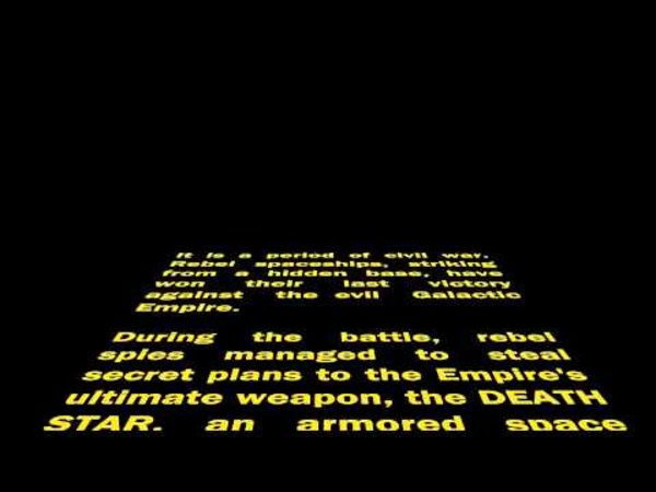 Star Wars Opening Crawl | Know Your Meme