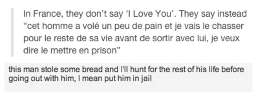 In France They Dont Say I Love You Know Your Meme