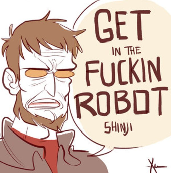Image result for get in the damn robot shinji