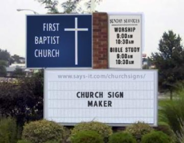 funny church signs know your meme