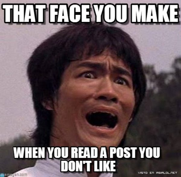The face you make