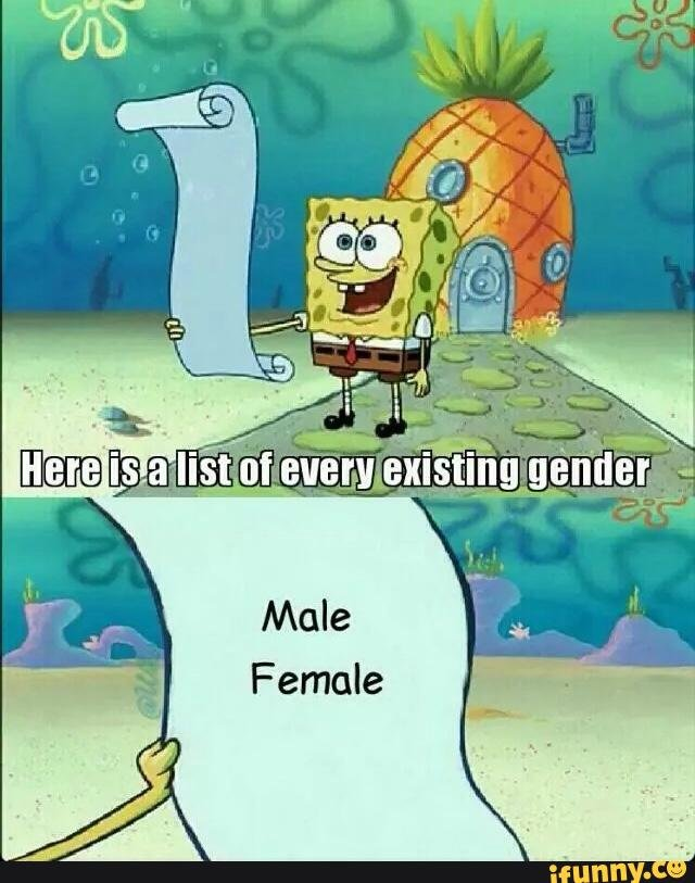 there are only 2 genders know your meme