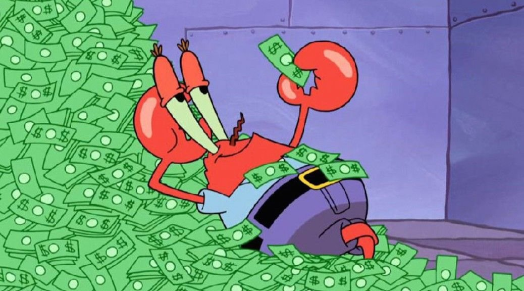 How Much Money Does Mr. Krabs Have?