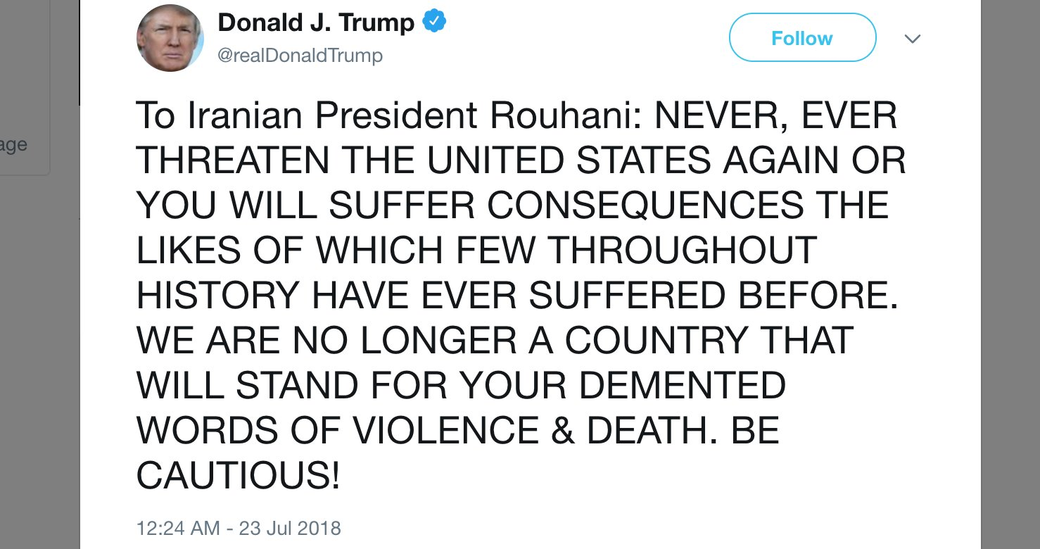 Donald Trump's President Rouhani Tweet | Know Your Meme