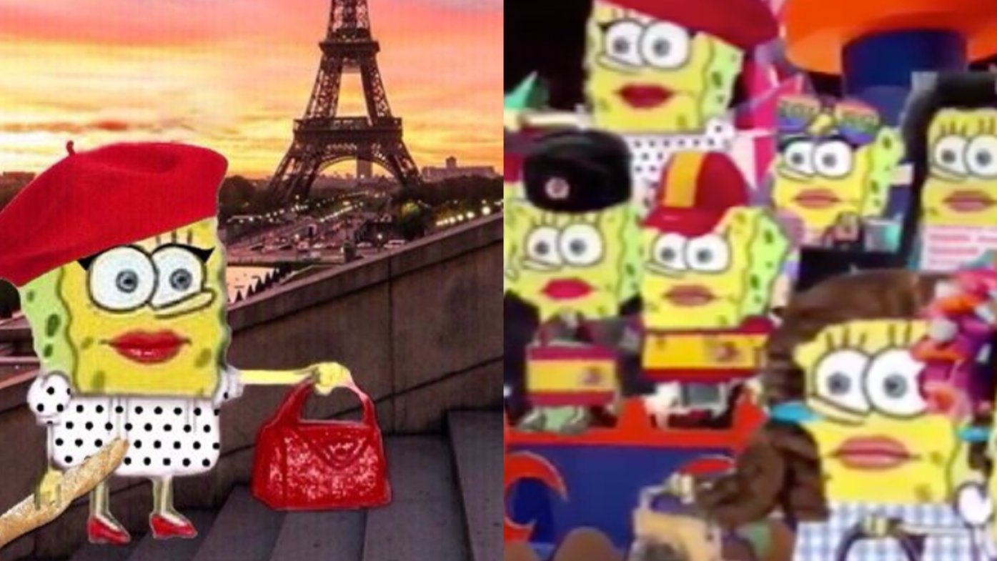 SpongeBob Traveling the World in Drag   Know Your Meme