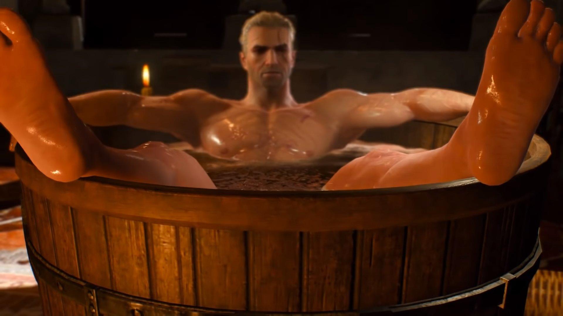 Geralt in a Bathtub | Know Your Meme