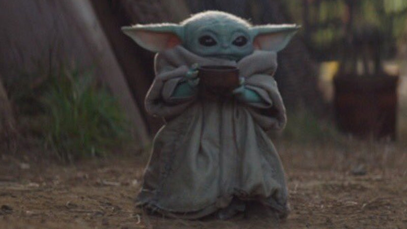 Baby Yoda Drinking Soup Know Your Meme