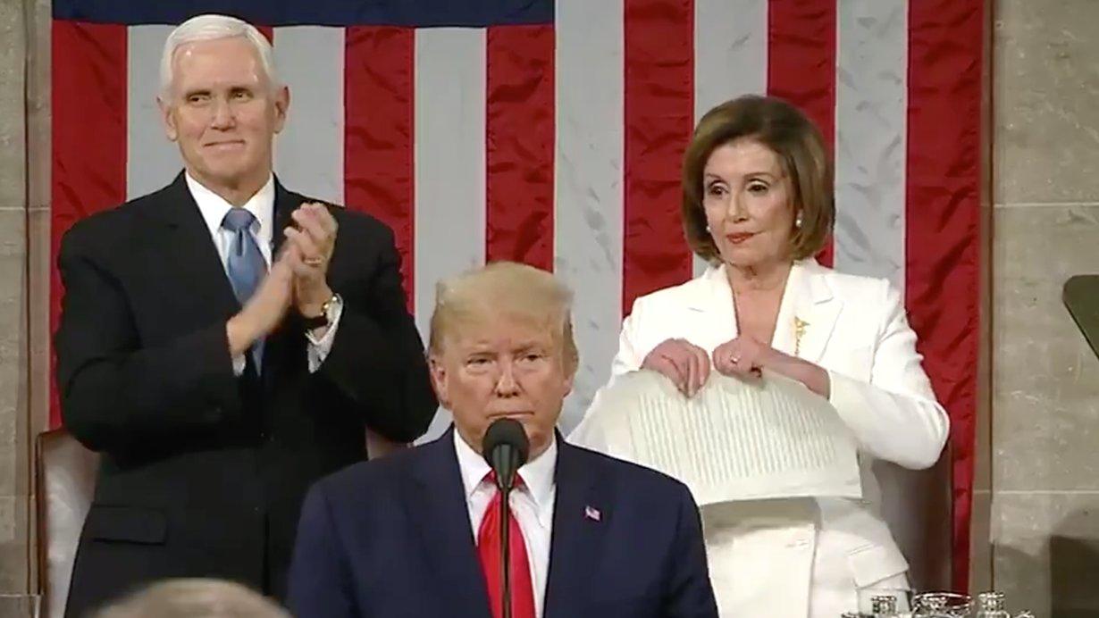Nancy Pelosi Ripping Paper