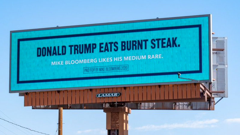 Mike Bloomberg S Anti Trump Billboards Know Your Meme