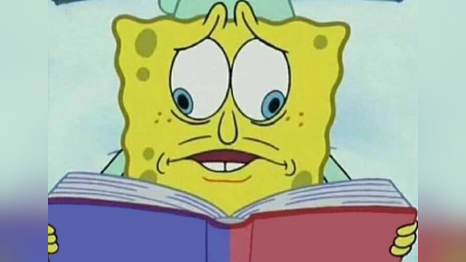 SpongeBob Reading Two Pages at Once | Know Your Meme