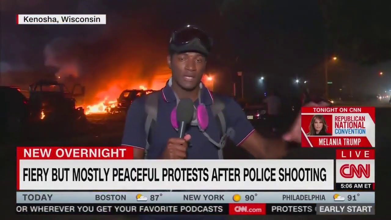 """CNN """"Fiery But Mostly Peaceful Protests"""" Parodies"""