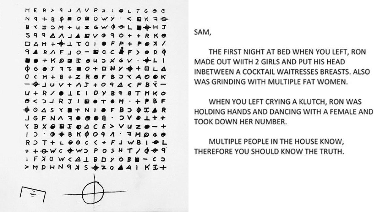 Zodiac Killer Cipher Bottoms only