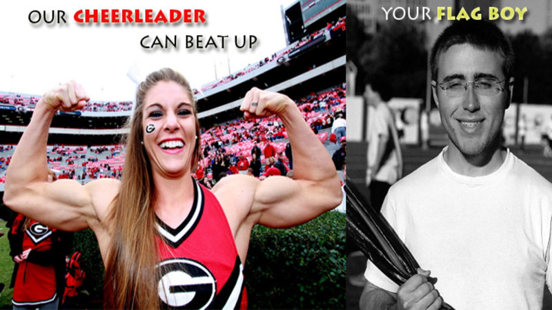 muscles Georgia cheerleader