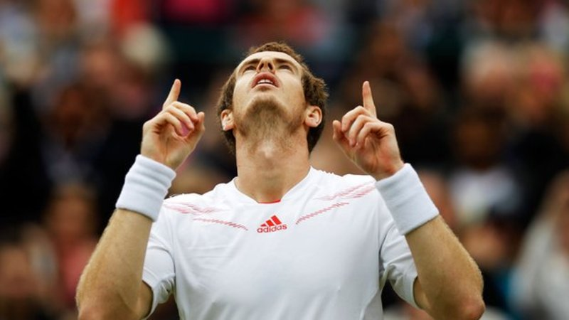 Andy Murray Pointing At The Sky Know Your Meme