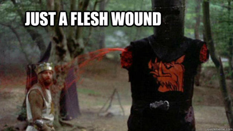 Just A Flesh Wound | Know Your Meme