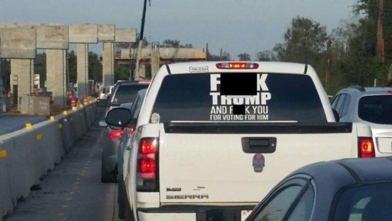 Fuck trump truck decal ·