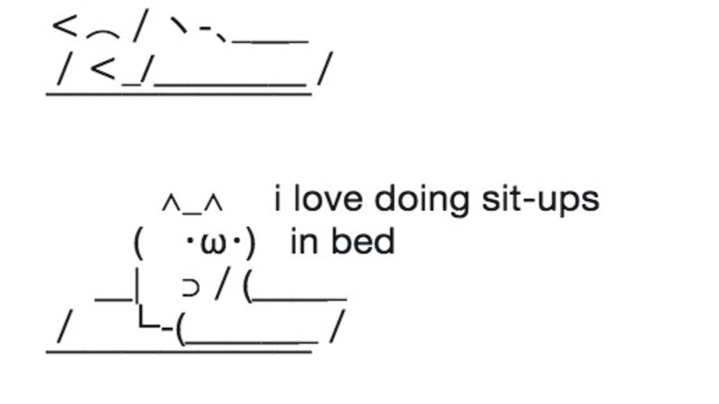 Sleeping ASCII Cat | Know Your Meme