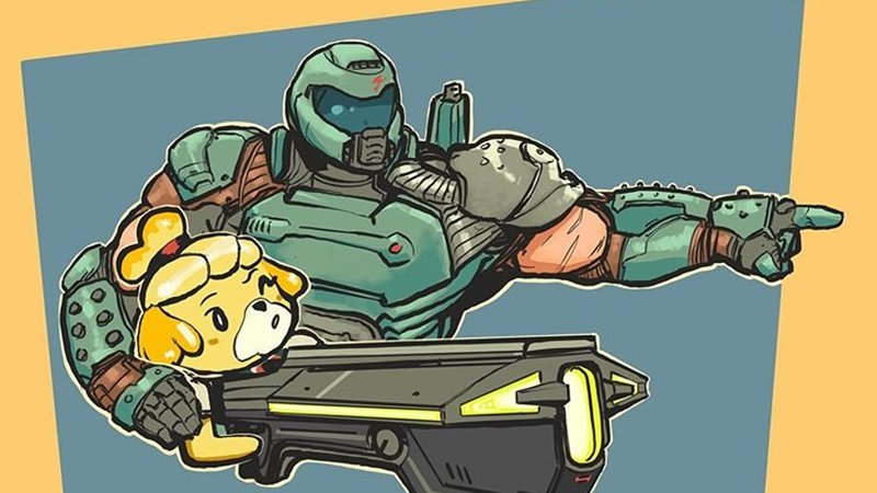 Doomguy And Isabelle Know Your Meme
