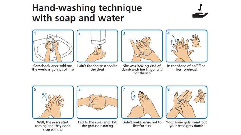 handwashing with Smash Mouth meme.