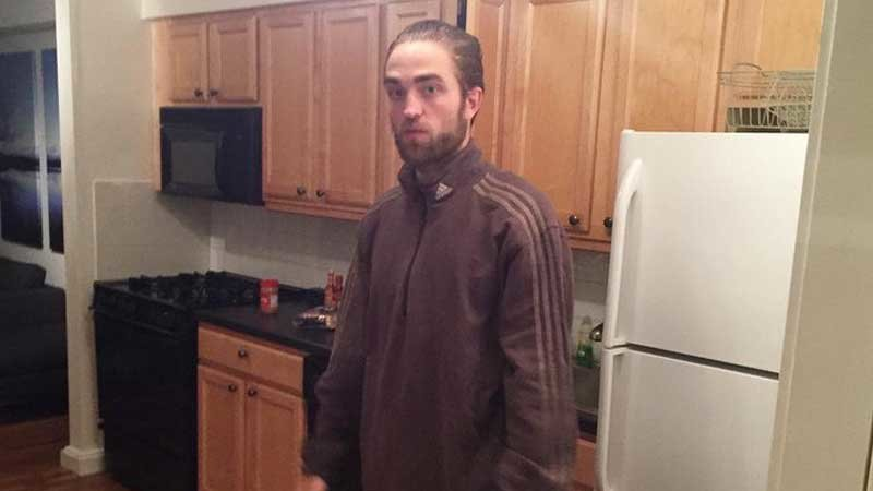 Tracksuit Robert Pattinson Standing in the Kitchen | Know Your Meme