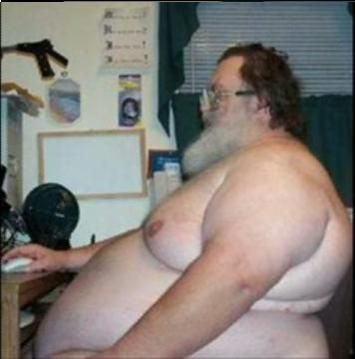 Fat Old Naked Man