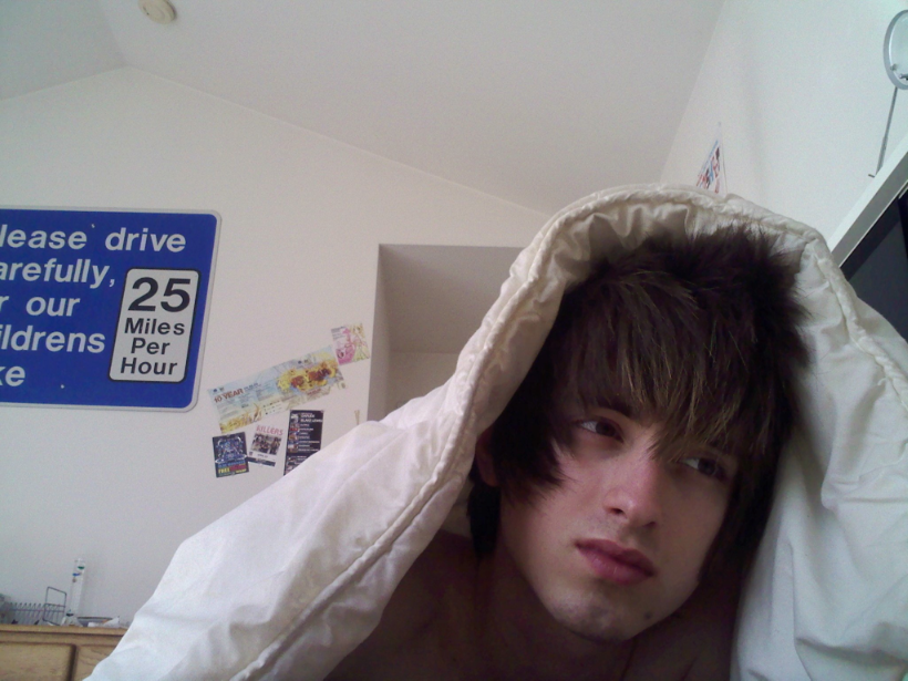Scene Kid Under Blanket