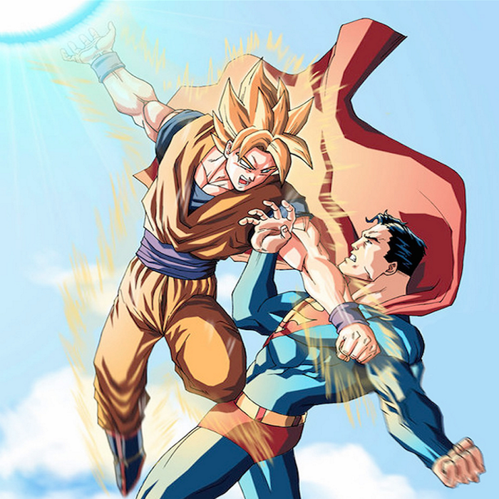 goku vs superman know your meme
