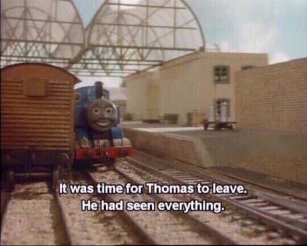 Image result for it was time for thomas to go