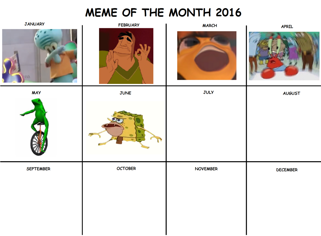 Pictures of Meme Of The Month Calendar 2021