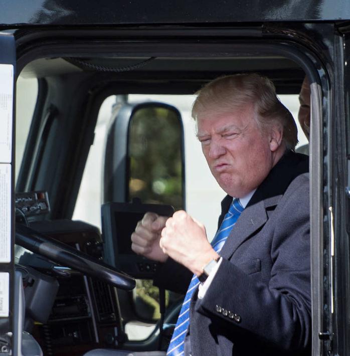 donald trump s truck photographs know your meme