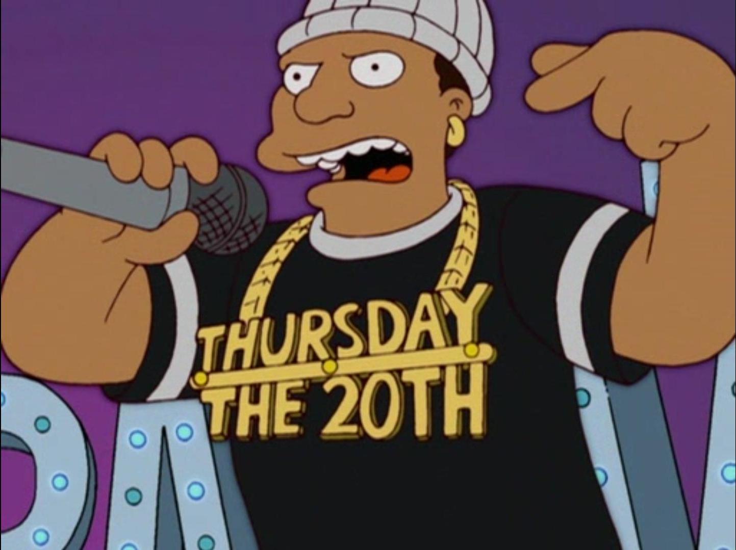Thursday The 20th