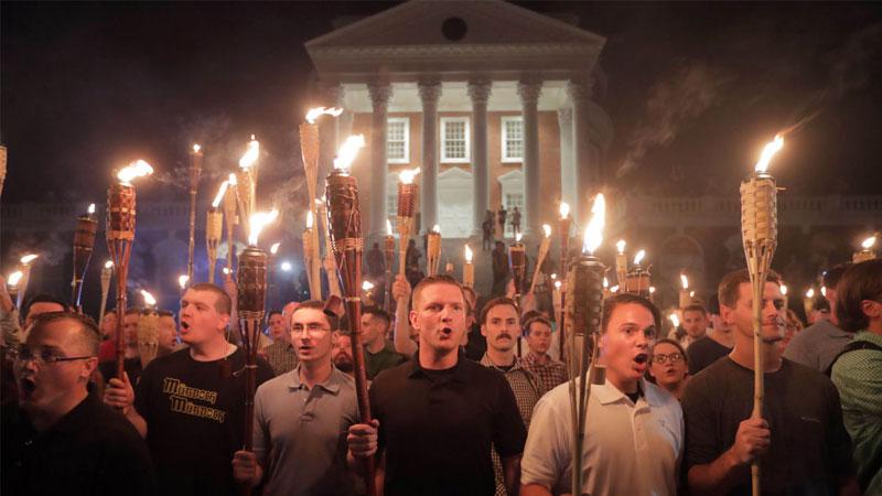 Image result for charlottesville tiki torches meme