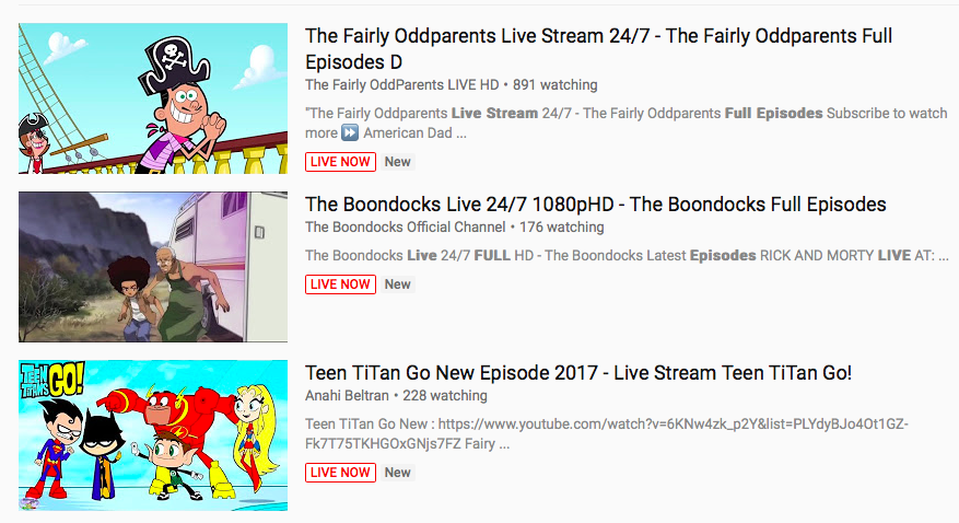 cartoon live streams know your meme
