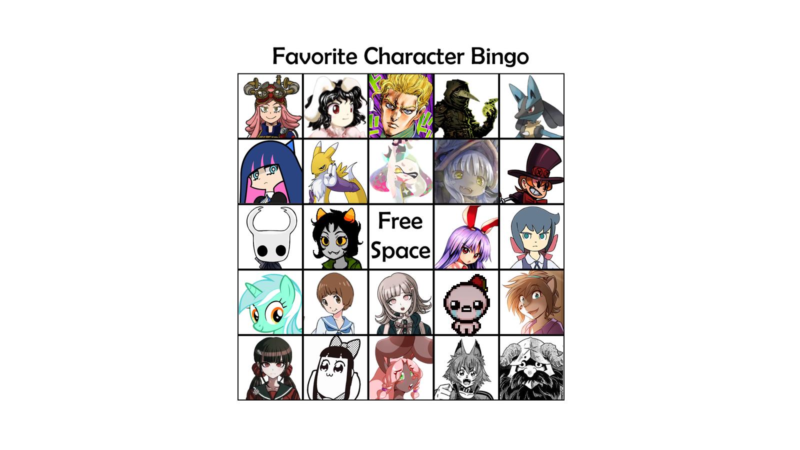 Favorite Character Bingo