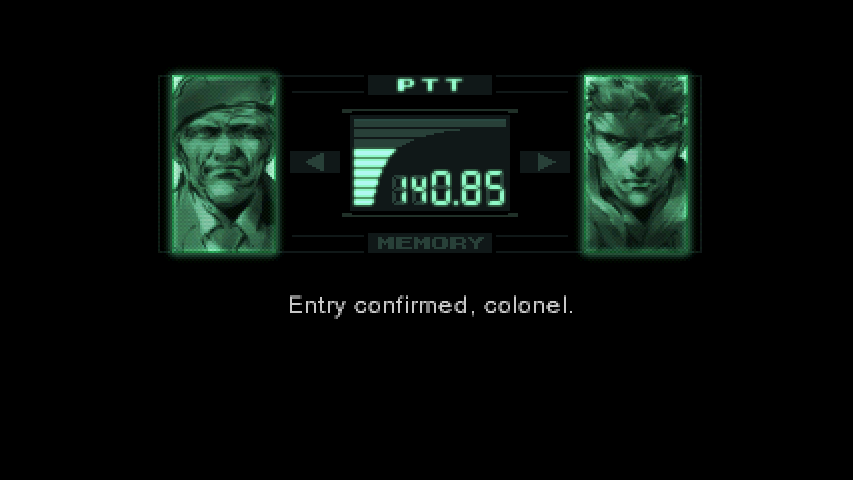 Metal Gear Codec Screen Know Your Meme
