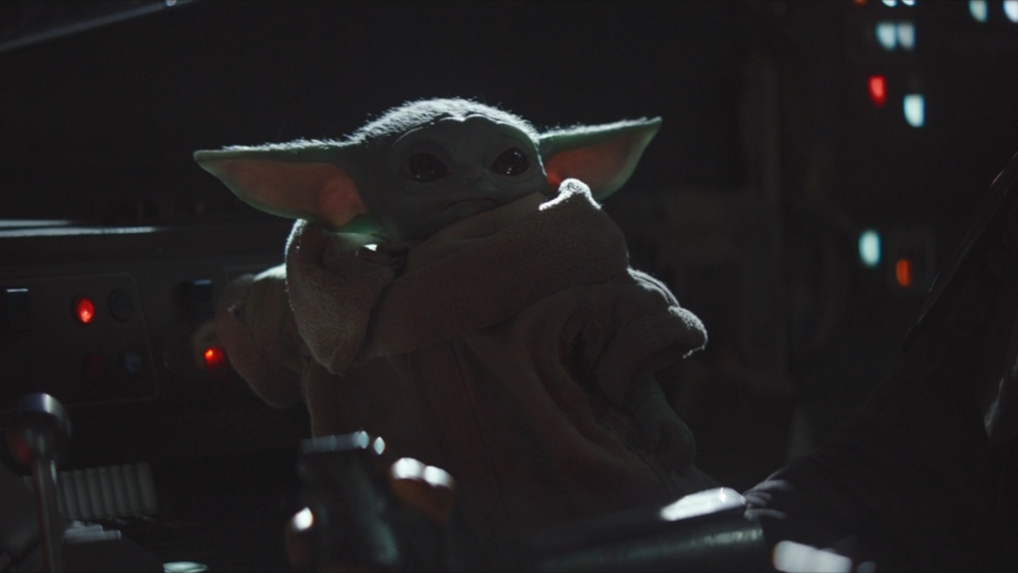 Baby Yoda Turns On The Music Know Your Meme