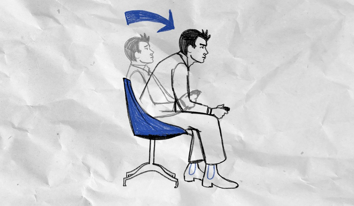 Leaning Forward In Chair Diagram   Know Your Meme