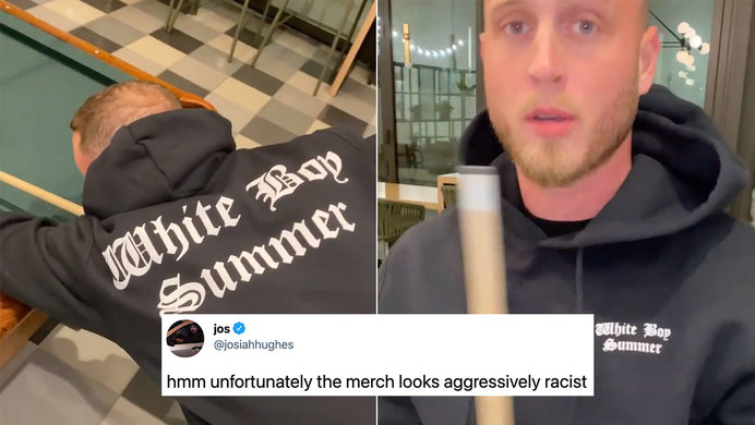 Many Think Chet Hanks 'White Boy Summer' Merch Is A Little Too Nazi-ish For Them