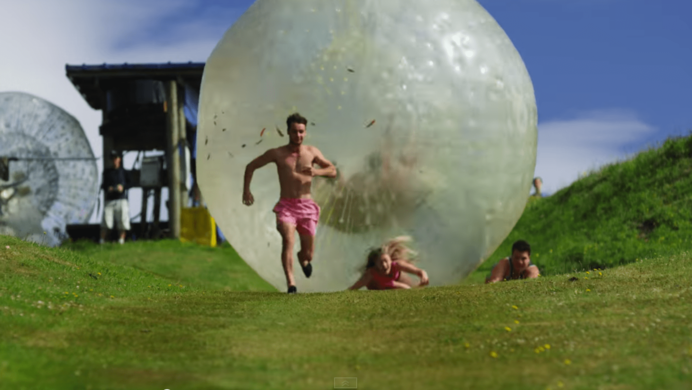 running away from giant balls