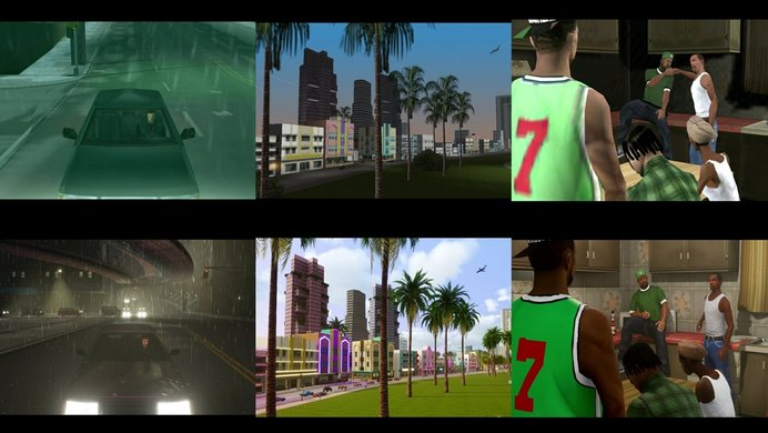 images that are used in the trailer to convey the difference in graphics quality.