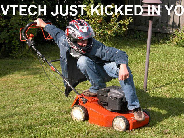 VTECH JUST KICKEDEN YO Honda Motor Company Civic Car Lawn Grass Mower Outdoor Power Equipment